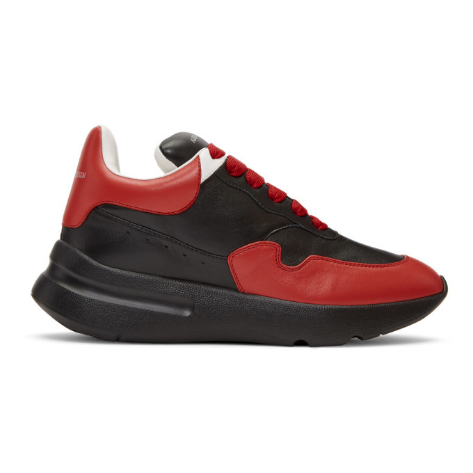 Photo: Alexander McQueen Black and Red Runner Sneakers