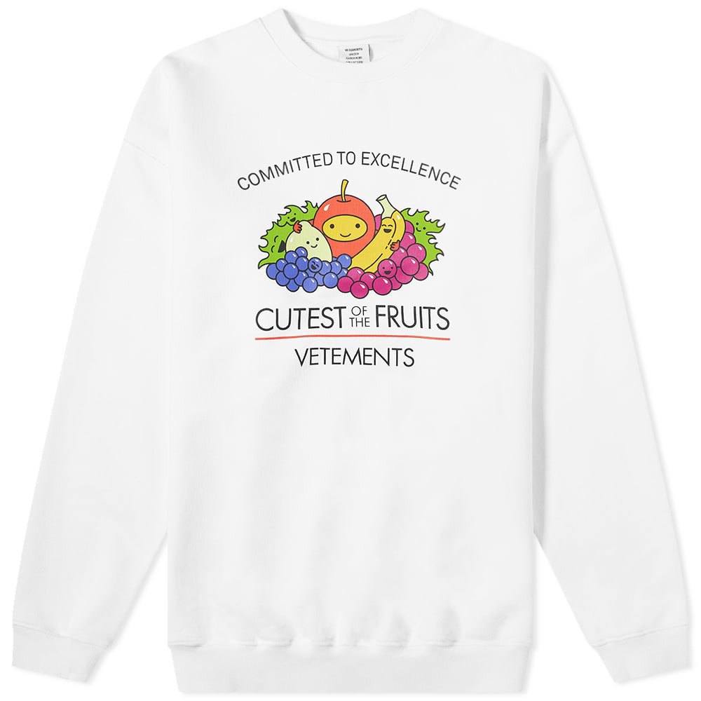Photo: VETEMENTS Cutest Of The Fruits Oversized Crew Sweat