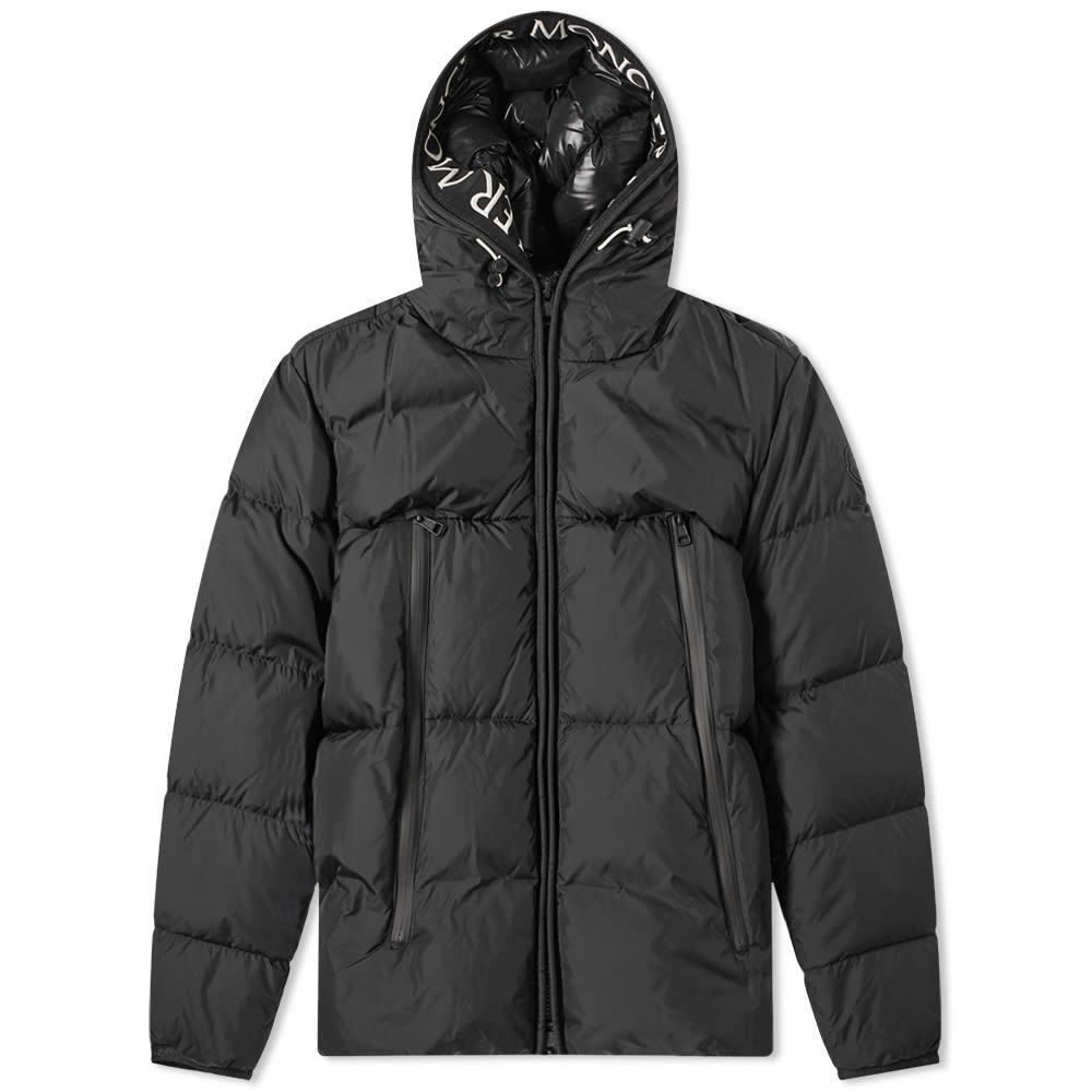 Photo: Moncler Montclar Taping Logo Hooded Down Jacket