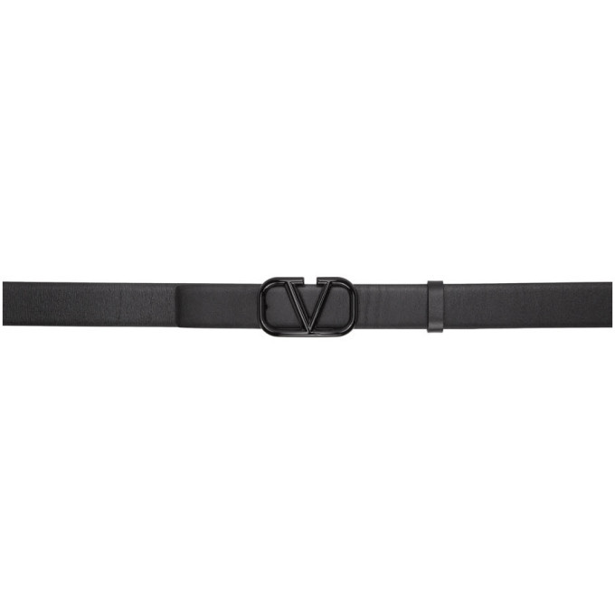 Photo: Valentino Black Valentino Garavani VLogo Belt