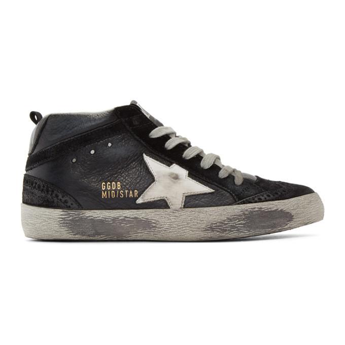Golden Goose Black Mid Star Sneakers