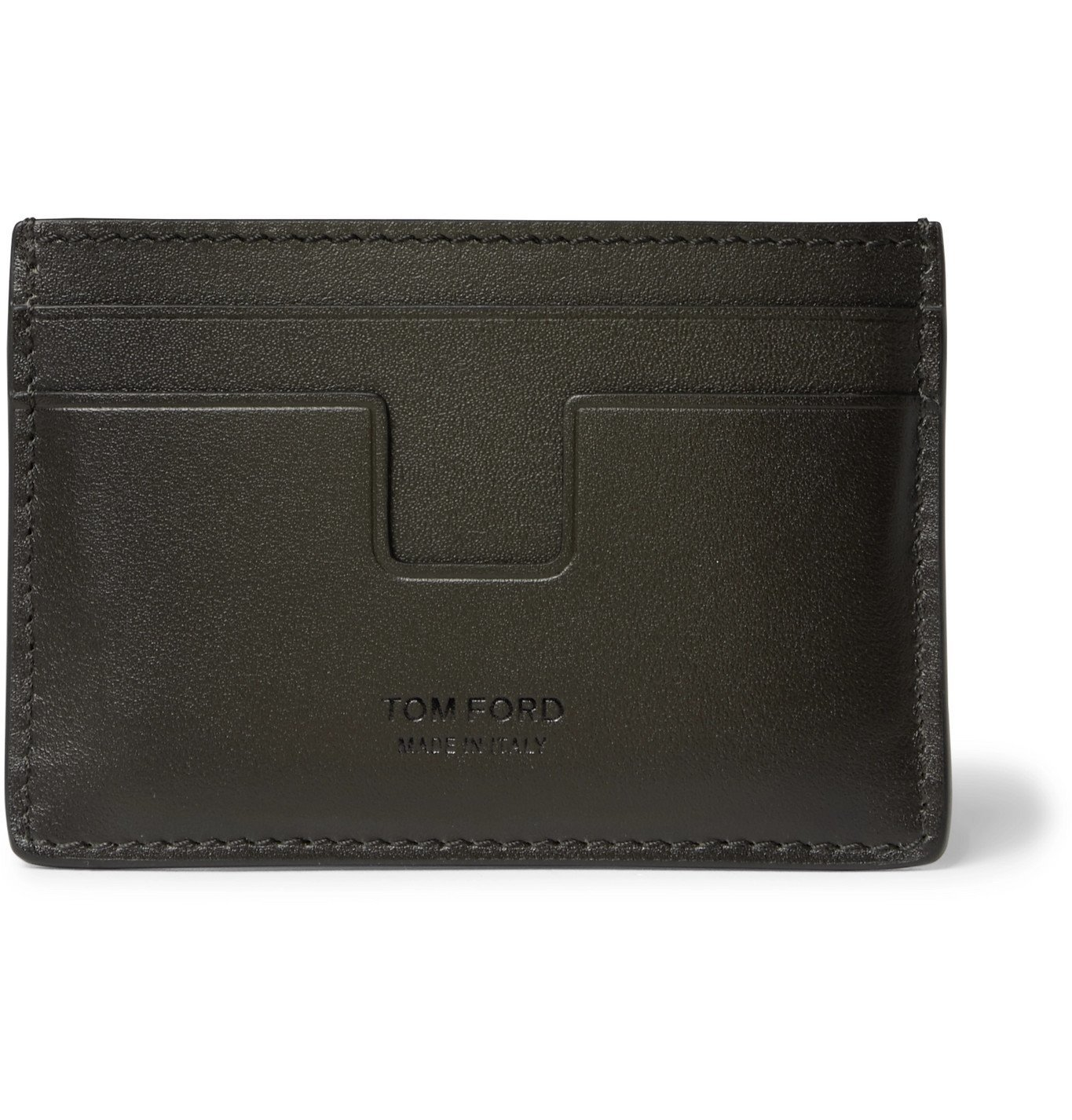 Photo: TOM FORD - Logo-Debossed Leather Cardholder - Brown