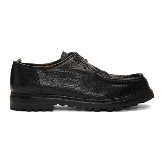 Photo: Officine Creative Black Volcov 001 Lace-Up Moccasins