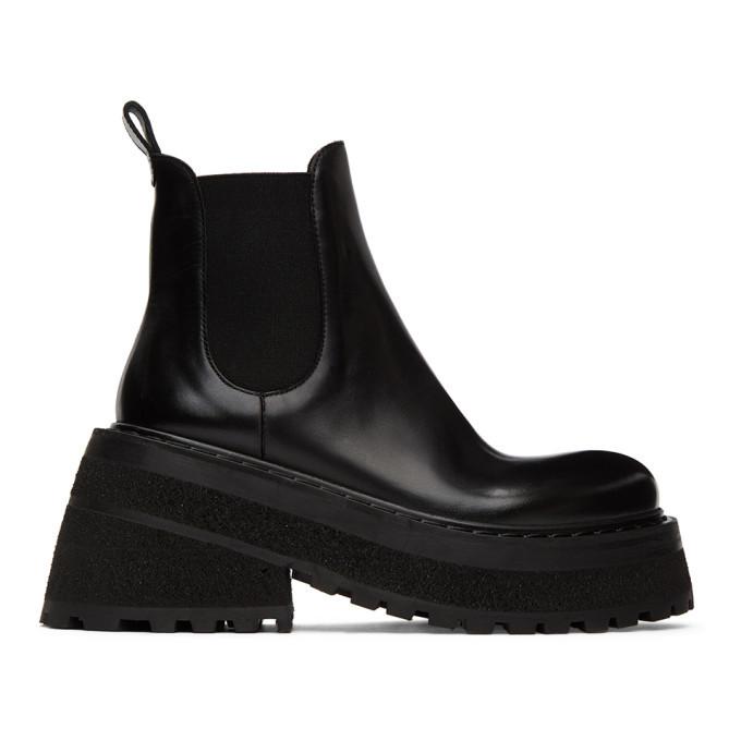 Photo: Marsell Black Carretta Beatles Chelsea Boots