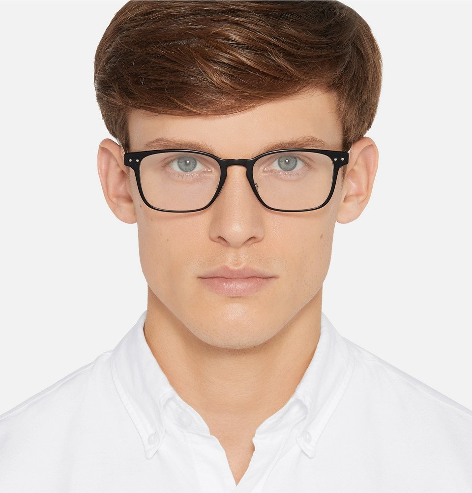 Bottega Veneta - Square-Frame Acetate Optical Glasses - Men - Black