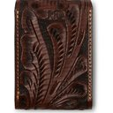 RRL - Embossed Leather Playing Cards Case - Brown