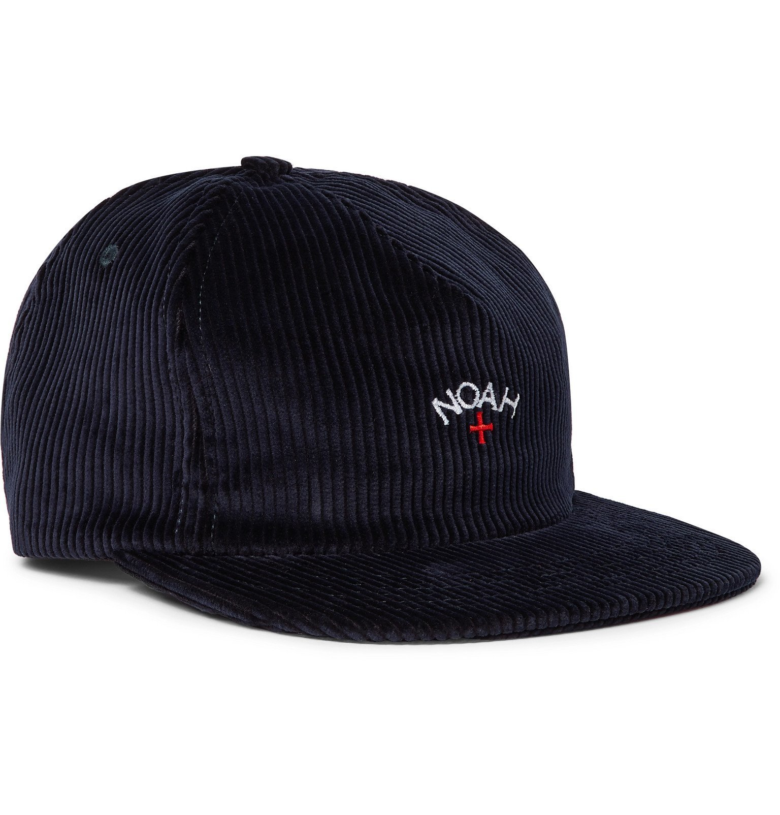 Photo: Noah - Logo-Embroidered Cotton-Corduroy Baseball Cap - Blue