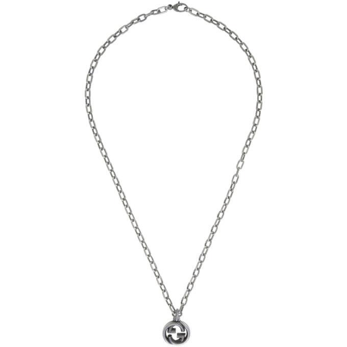 Photo: Gucci Silver Small Interlocking G Chain Necklace