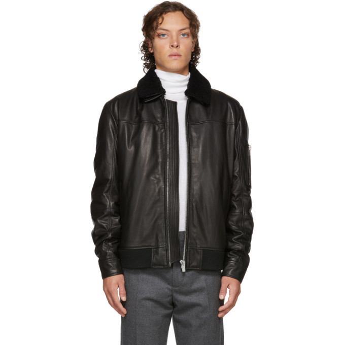 Photo: Hugo Black Leather Lannson Jacket