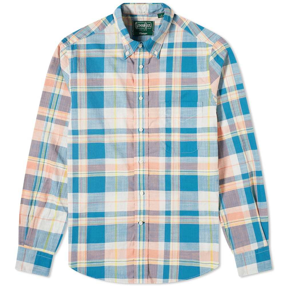 Photo: Gitman Vintage Button Down Archive Madras Shirt