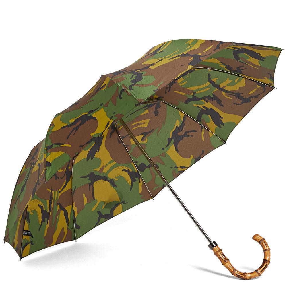 Photo: London Undercover Whangee Telescopic Umbrella Green