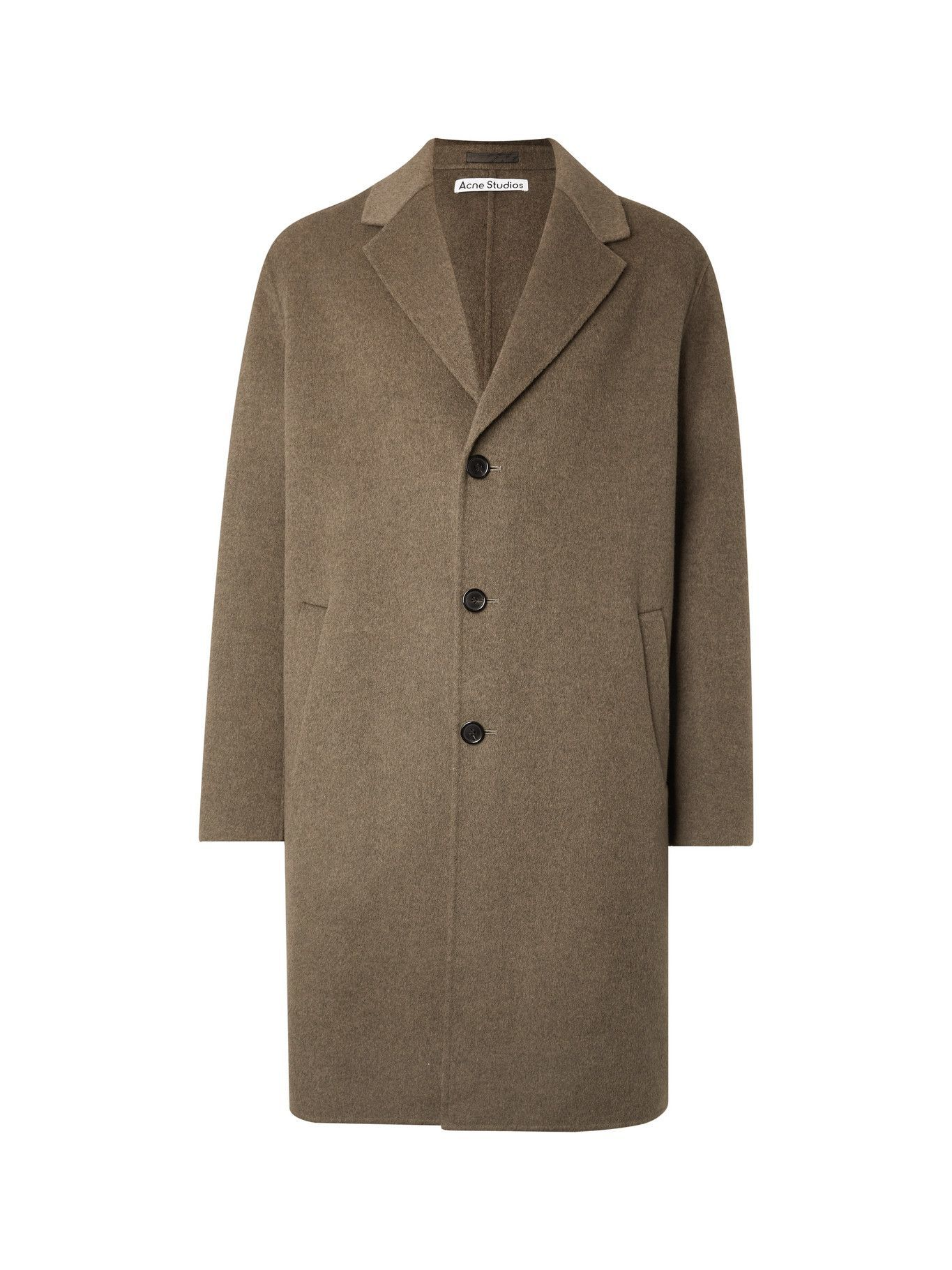 Photo: ACNE STUDIOS - Dali Double-Faced Wool Coat - Brown