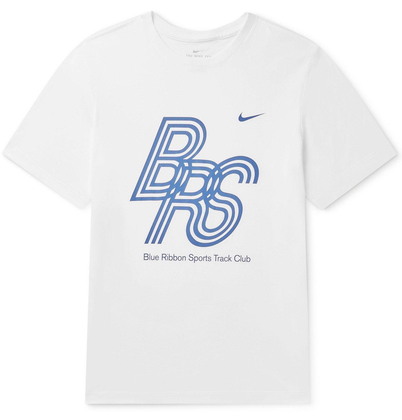 Photo: Nike Running - Printed Dri-FIT Cotton-Blend Jersey T-Shirt - White