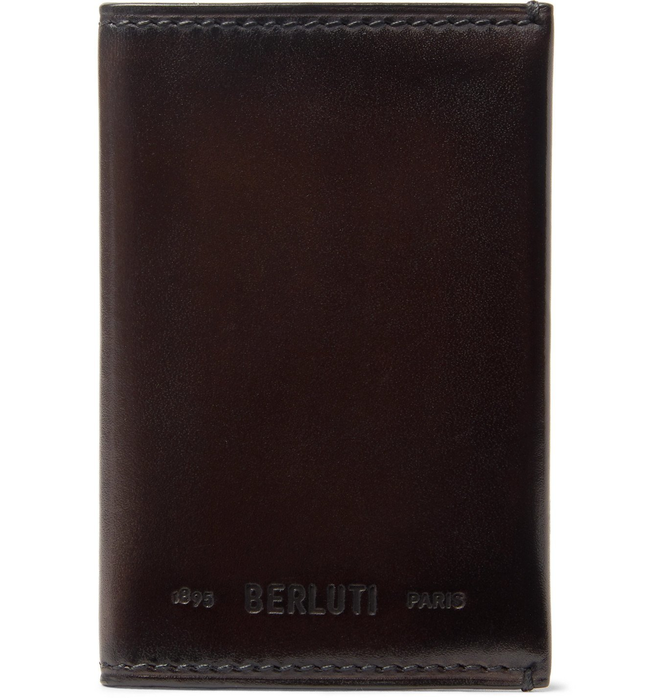 Photo: Berluti - Ideal Burnished-Leather Bifold Cardholder - Brown