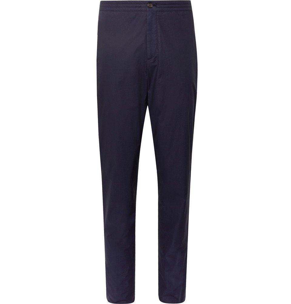 Photo: Ermenegildo Zegna - Navy Garment-Dyed Stretch-Cotton Suit Trousers - Navy