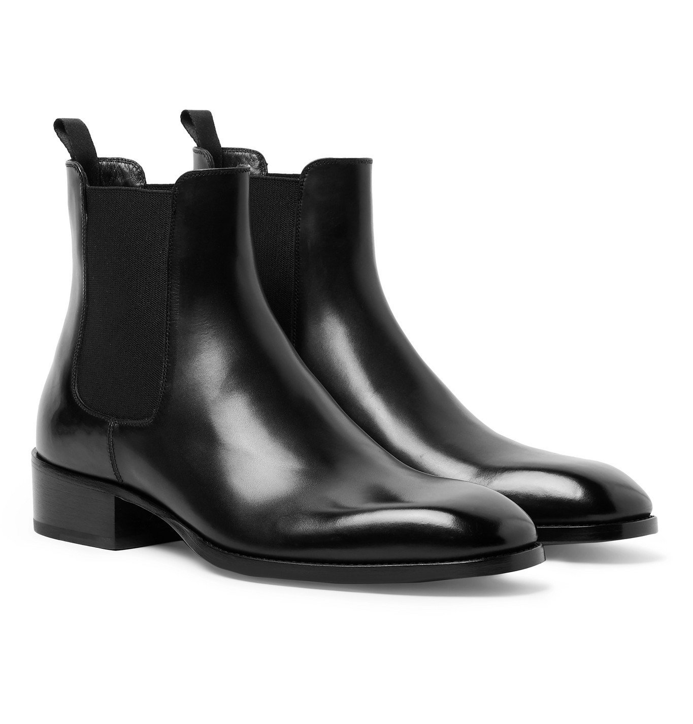 Photo: TOM FORD - Hainaut Polished-Leather Chelsea Boots - Black
