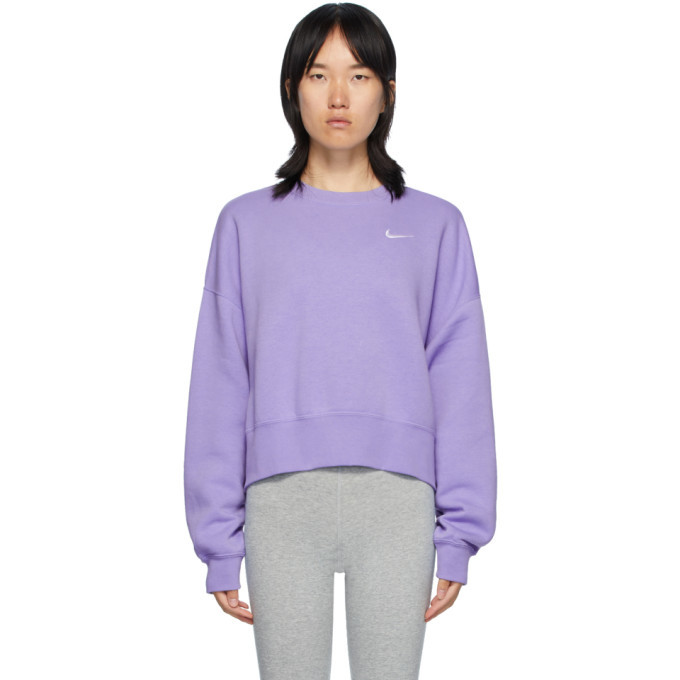 Photo: Nike Purple Sportswear Essentials Sweatshirt