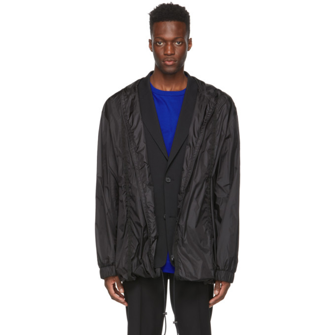 Photo: Juun.J Black Detachable Raincoat Jacket