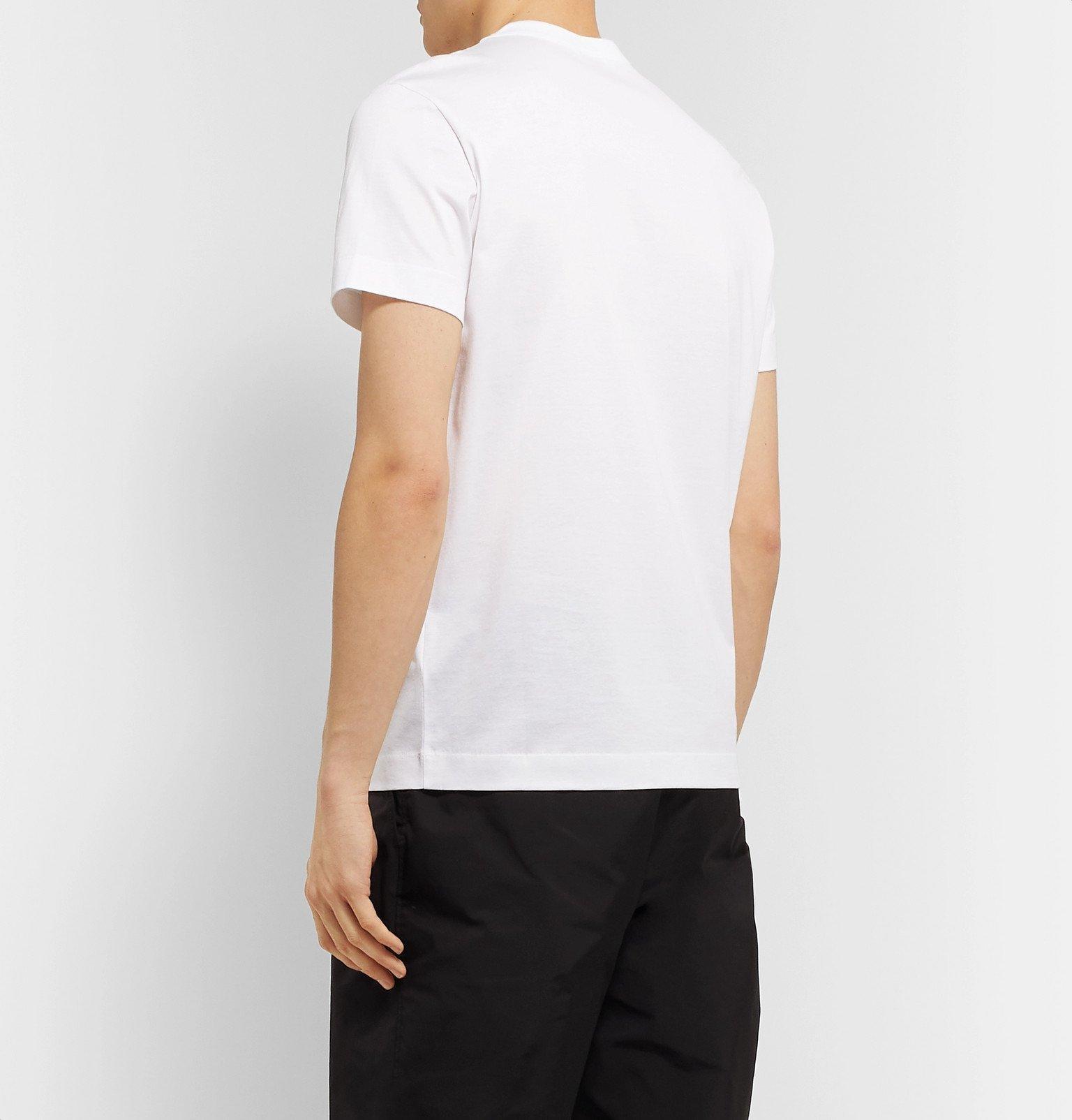 Moncler - Logo-Appliquéd Cotton-Jersey T-Shirt - White