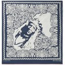 KAPITAL - Printed Cotton-Voile Bandana - Blue