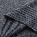 Saman Amel - Mélange Merino Wool Rollneck Sweater - Gray