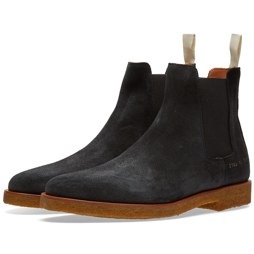 Common Projects Chelsea Boot Waxed Suede Black