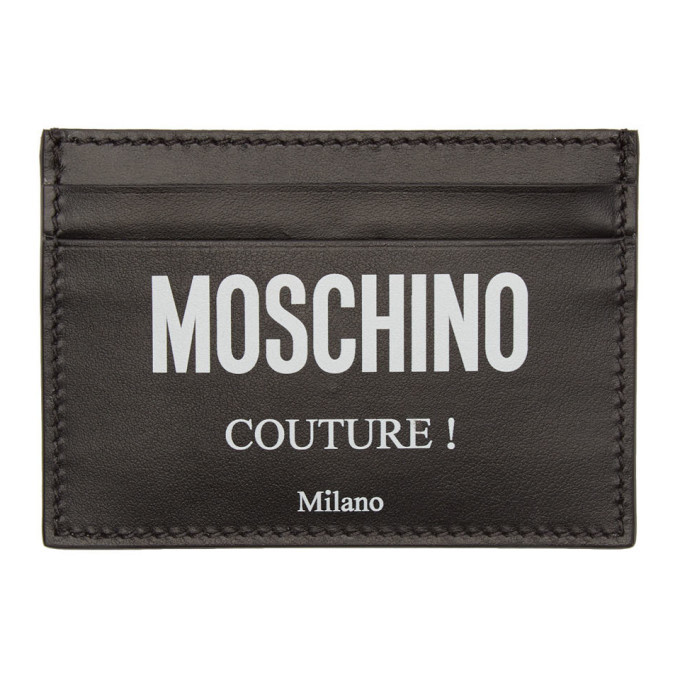 Photo: Moschino Black Couture Card Holder