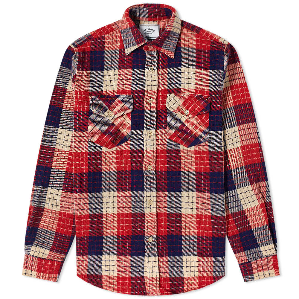 Photo: Portuguese Flannel Two Pocket Village Check Overshirt