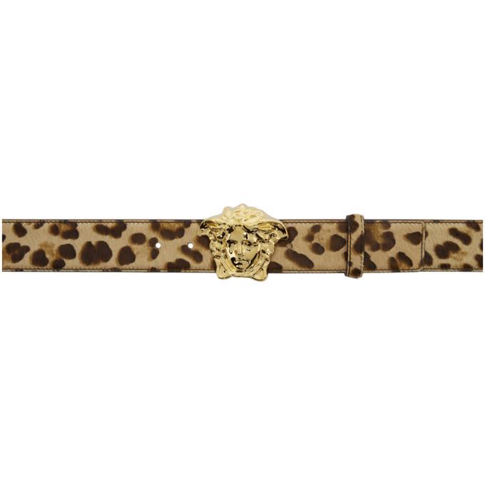 Photo: Versace Beige Leopard Palazzo Belt