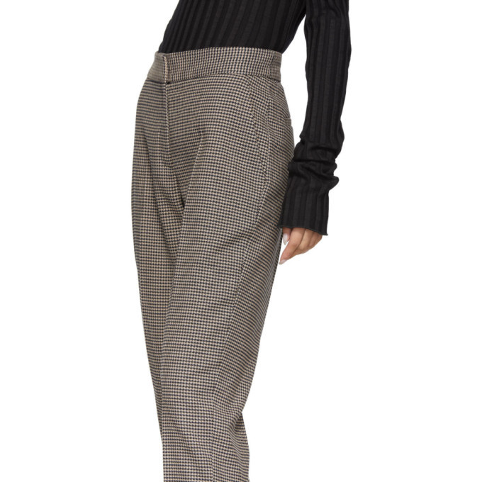 Won Hundred Brown Houndstooth Elissa Trousers