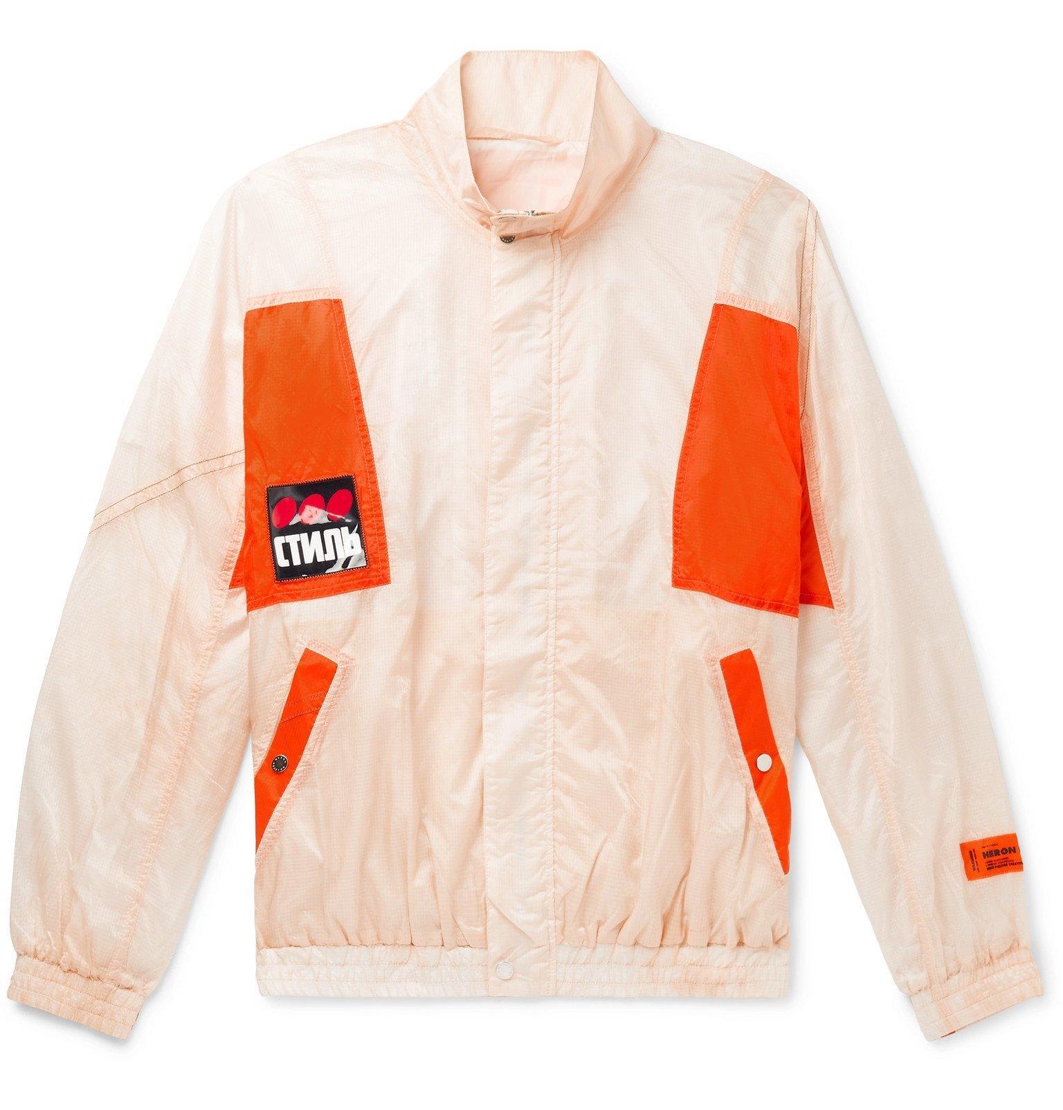 Photo: Heron Preston - Logo-Detailed Panelled Ripstop Jacket - Neutrals