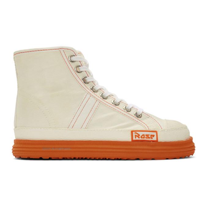 Martine Rose White Denim Basketball Sneakers