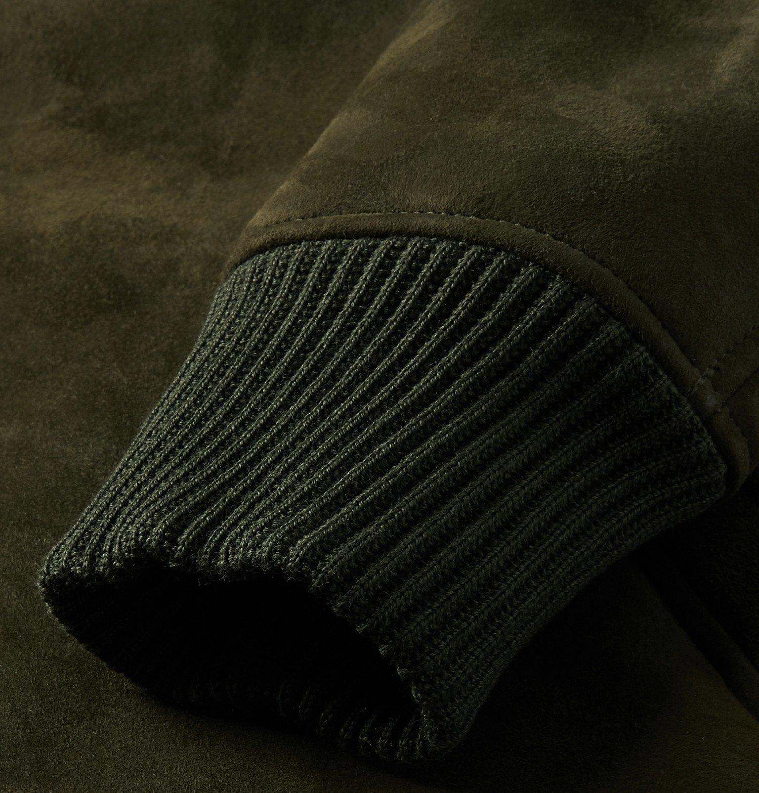 Officine Generale - Saul Shearling Bomber Jacket - Green