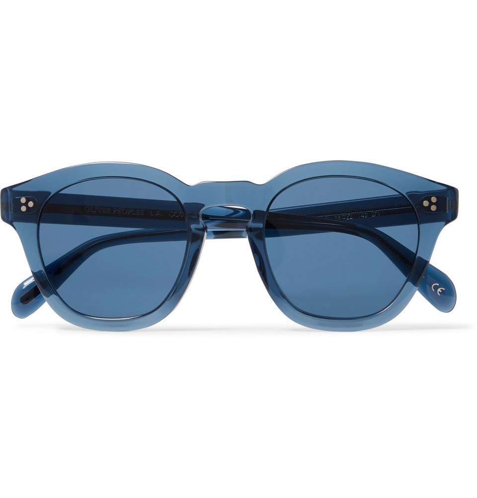 Oliver Peoples - Boudreau LA D-Frame Acetate Sunglasses - Blue