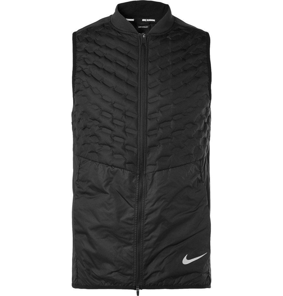 Nike Running - Aeroloft Slim-Fit Quilted Ripstop Down Gilet - Men - Black
