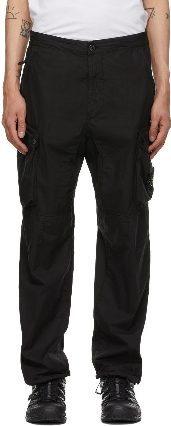 Photo: Stone Island Black Five-Pocket Cargo Pants