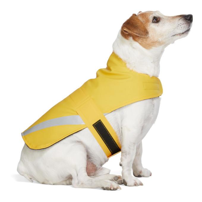 Photo: Stutterheim SSENSE Exclusive Yellow PVC Lightweight Dog Raincoat