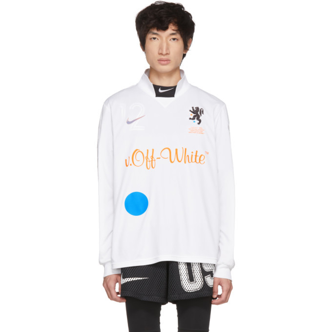 Photo: NikeLab White Off-White Edition M NRG Carbon Home Jersey T-Shirt
