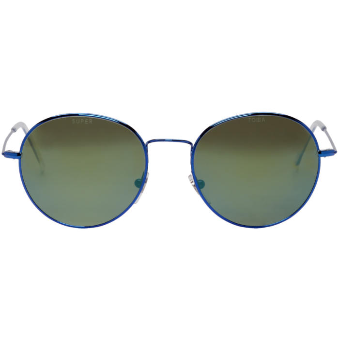 Photo: Gosha Rubchinskiy Blue and Green Super Edition Wire Sunglasses
