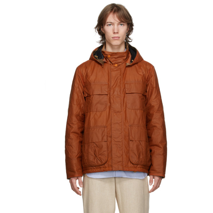 Photo: Barbour Orange Norse Projects Edition Wax Ursula Jacket