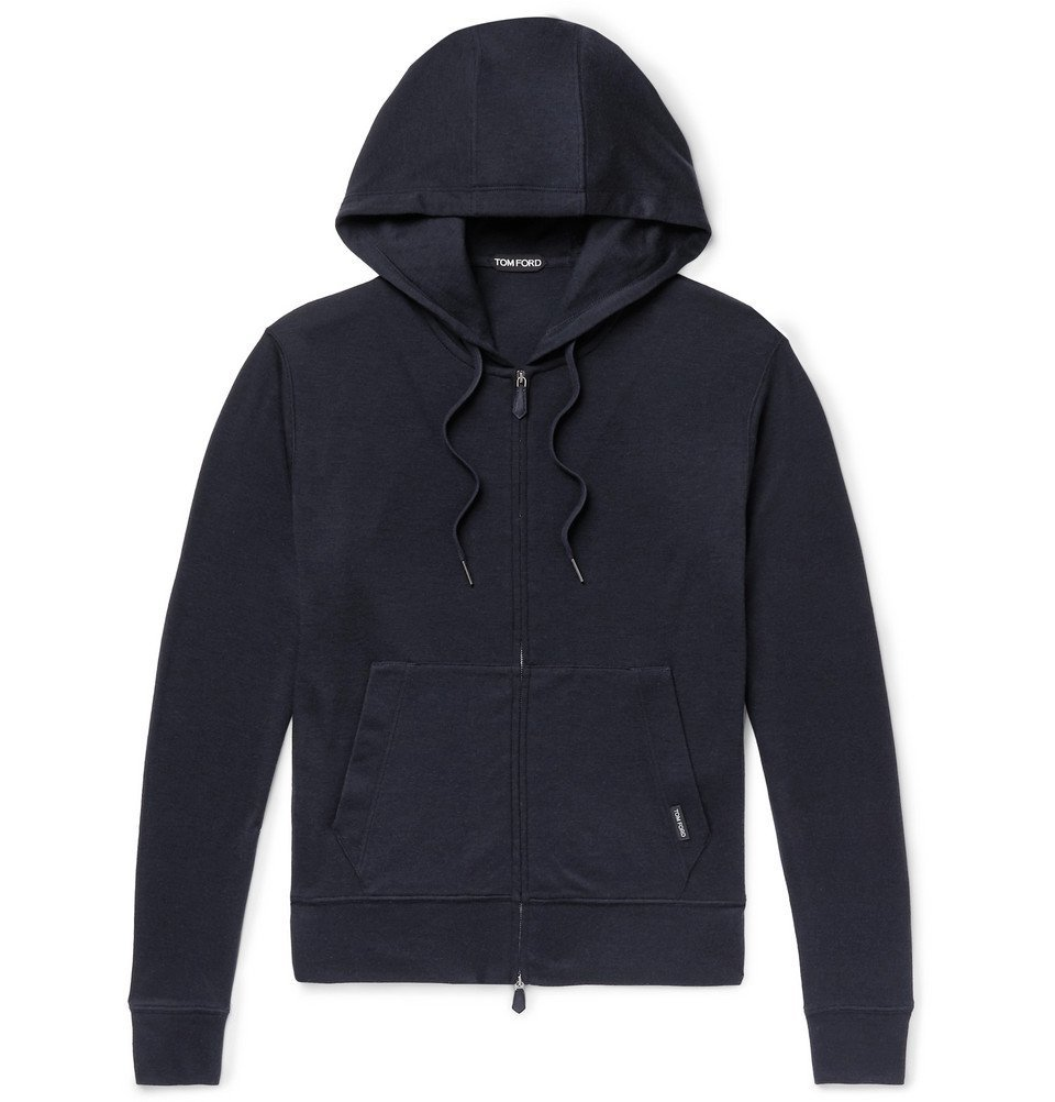 Photo: TOM FORD - Slim-Fit Cashmere Zip-Up Hoodie - Navy