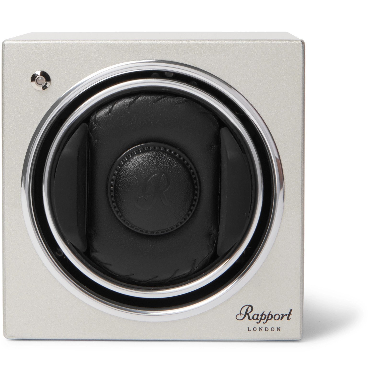 Photo: Rapport London - Evo Cube #8 Lacquered-Wood Automatic Watch Winder - Silver