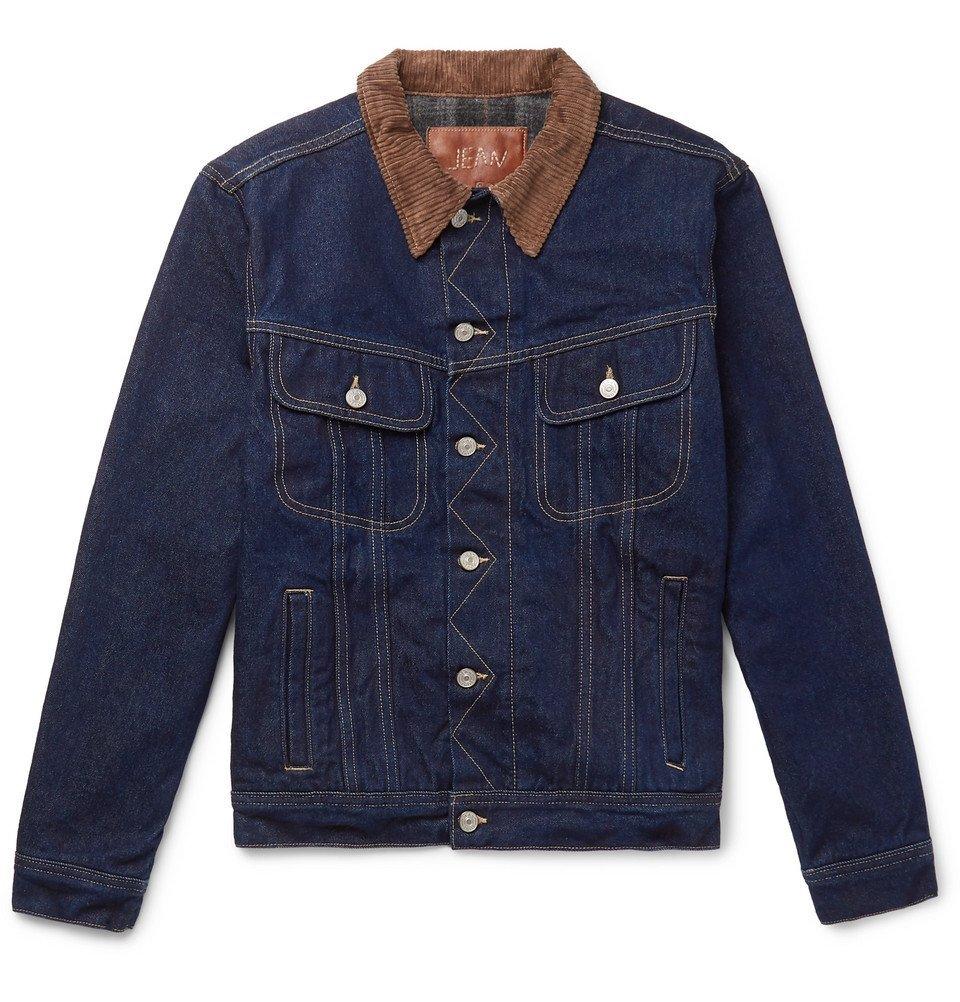 Photo: Kingsman - Jean Shop Tequila's Statesman Slim-Fit Blanket-Lined Selvedge Denim Jacket - Indigo