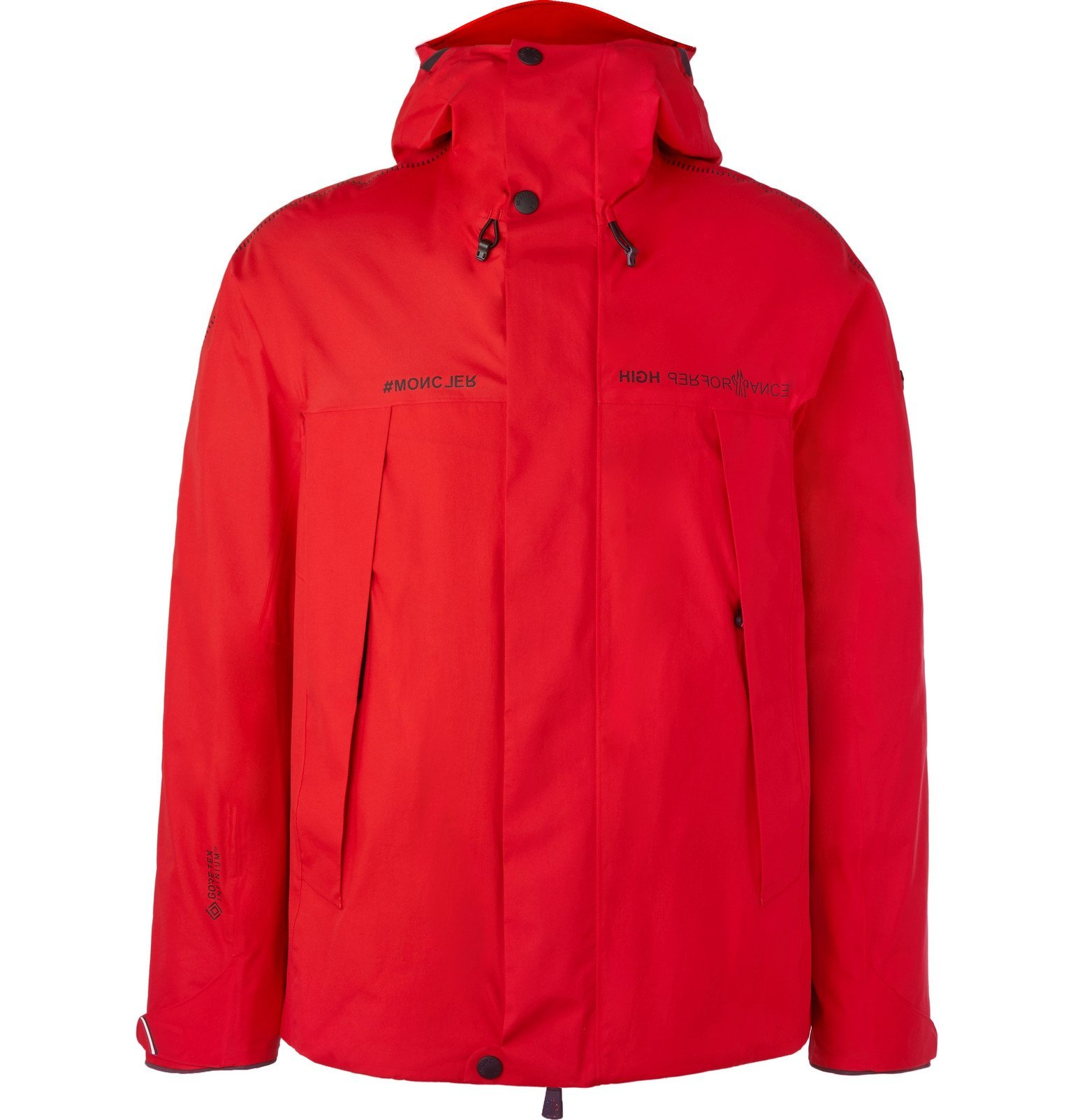 Photo: Moncler Grenoble - Linth Shell Hooded Ski Jacket - Red