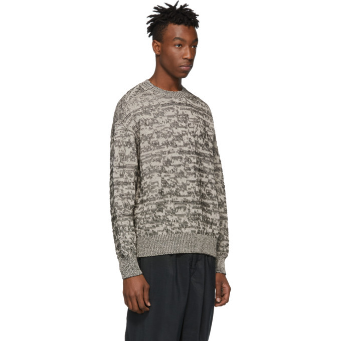 Lemaire Grey Jacquard Sweater