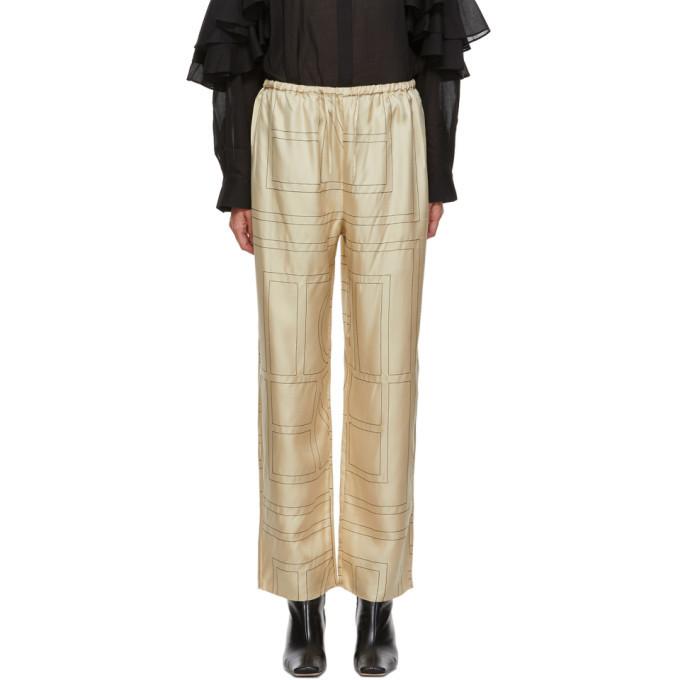 Photo: Toteme Beige Monogram Vizelle Lounge Pants