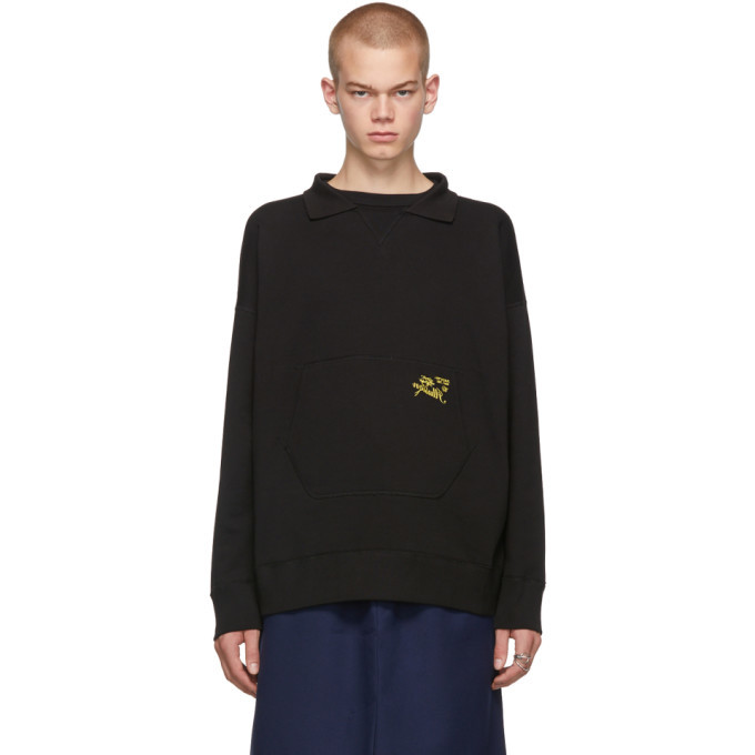 Raf Simons Black Illusion Collar Sweatshirt