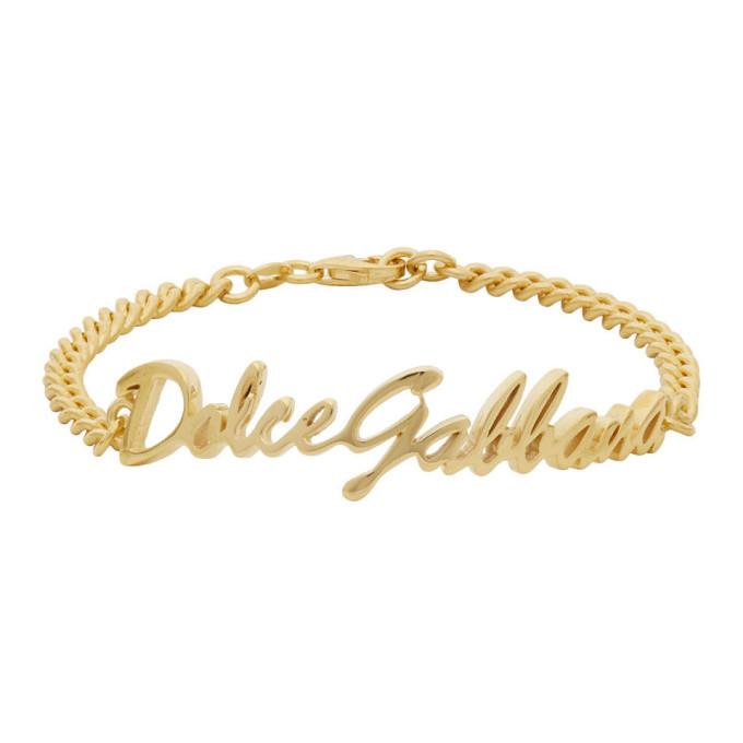 Photo: Dolce and Gabbana Gold Logo Bracelet