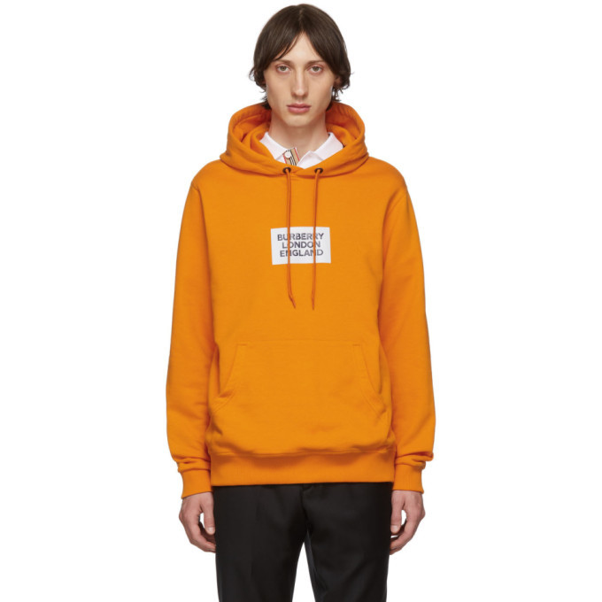 Photo: Burberry Orange Square Logo Sweatshirt