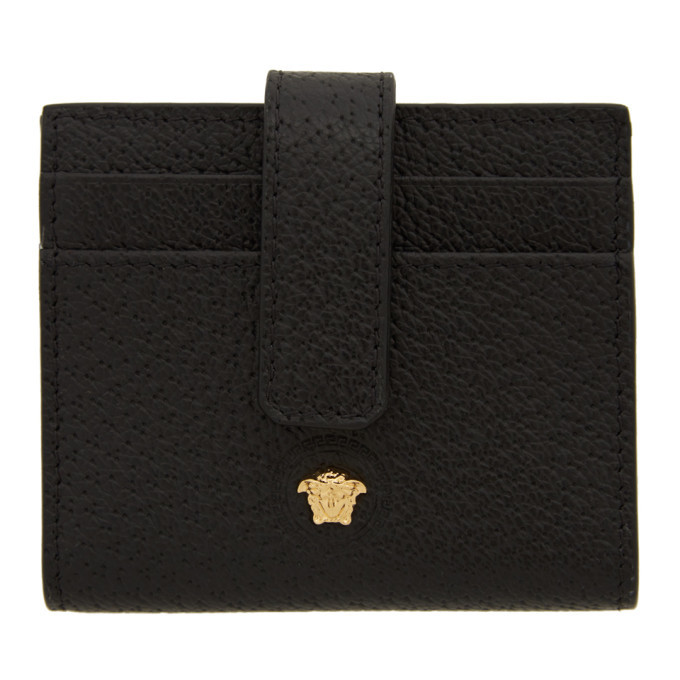 Versace Black Multi Slot Card Holder